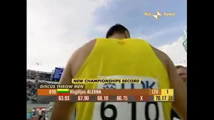 2005 World Championship Men's Discus - 1st Virgilijus Alekna