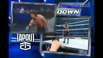 Ей Джей Стайлс срещу Миз ( Крис Джерико предизвиква Стайлс на мач ) - Wwe Smackdown - 04.02.16