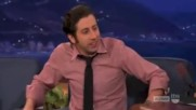 Simon Helberg does an impression of Robin Williams and Nick Cage