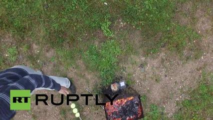 Как да си разпалим барбекюто с дрон
