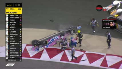 Колата на Ланс Строл се преобърна с гумите нагоре