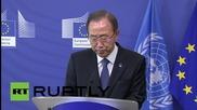 Бан Ки-Mун: ООН ще помага на ЕС за кризата с бежанците