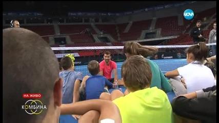 Какво каза Григор Димитров на най-талантливите български тенисисти?