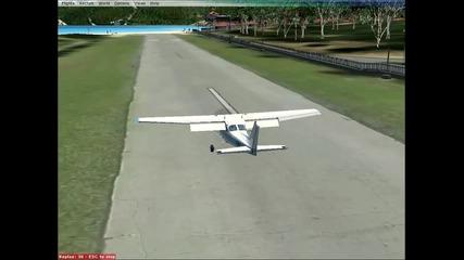 fsx landing at St. Barthelemy airport