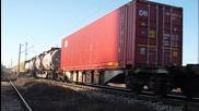 Товарен влак с тройна тяга