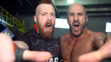 The Bar celebrate Cesaro's huge victory en route to WWE Super Show-Down: WWE.com Exclusive, Sept. 18, 2018