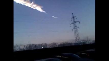Звука от избухналия метеорит в Русия и последиците от него!
