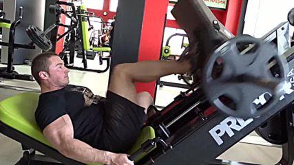 Фитнес упражнения - Лег преса с един крак