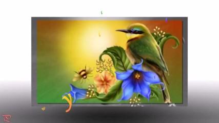 Птици на цветя ... (painting)