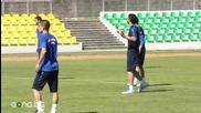 Грийн и Милиев тренират във фитнеса