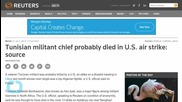 Tunisian Militant Chief Probably Died in U.S. Air Strike...