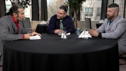 The Hardys and Shane Helms recall their wild Ladder Matches on Table for 3 (WWE Network Exclusive)
