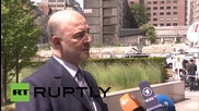 "Belgium: Greek reforms ""the key"" to handling debt crisis, says European Commissioner Moscovici"