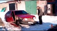 Бързо разглобяване на кола - Руска му работа