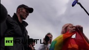 Russia: Police detain protesters at unauthorised LGBT demo in St. Petersburg