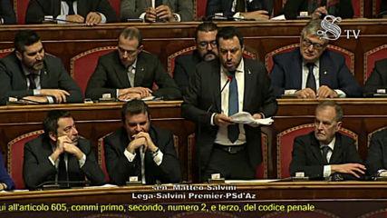 Italy: Senate votes for Salvini to face migrant trial