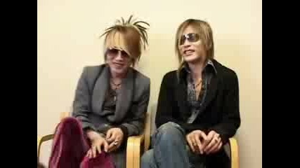 Ruki & Uruha Interview
