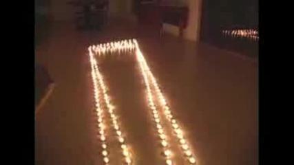 Илюзия от свещи