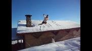 Голички в снега 2 !! Летящият гмурец :d