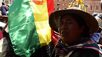 Bolivia: Police break up rally opposing interim government