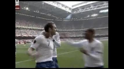 Англия се справи лесно с Уелс - 2:0 и първо място в групата