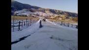 vw golf 3 pravi drift na snega