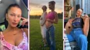 И Бела Хадид ли е бременна?! Моделът позира със сестра си в твърде характерна поза