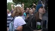 Нови сблъсъци между протестиращи и полиция в София, осем души са арестувани