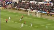 Суонзи 2:1 Манчестър Юнайтед 21.02.2015