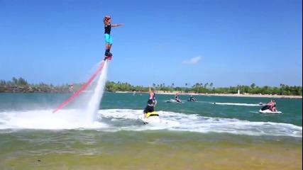 Летящи хора над водата,и супер забавление