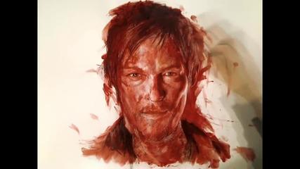 Рисуване на портрет с кръв