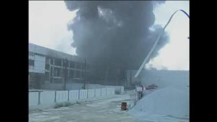 Голям пожар горя в склад за стиропор в кв. Дружба