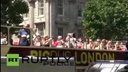UK: Far-right protesters rally outside Downing Street