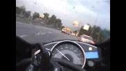 Луд Моторист В Трафика