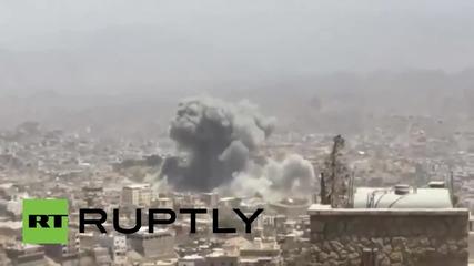Yemen: Houthi HQ destroyed as Saudi-led airstrikes pound Taiz