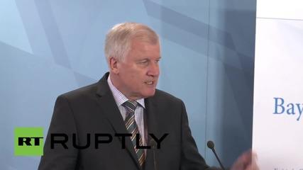 Germany: Bavarian PM talks refugee crisis, demands