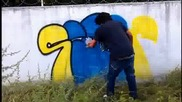 Hardcore Graffiti Bombing - Siren Crew!