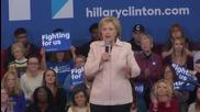 USA: Clinton slams Republican rivals during Des Moines rally