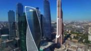Москва Сити Заснета С Дрон