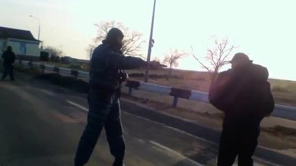 18 + Украйна - Чонгар • Беркут направи няколко предупредителни изстрела с газов пистолет