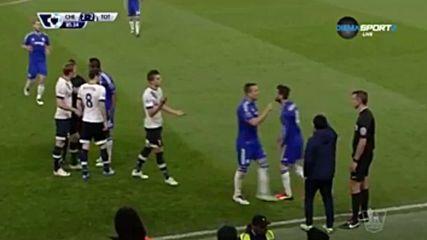 Всички моменти на напрежение в дербито Челси - Тотнъм