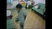 Little boy shuffle  dance