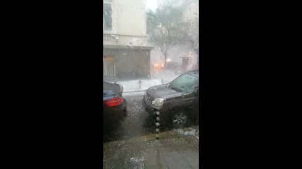 Буря и градушка в София ( 8.07.2014 )