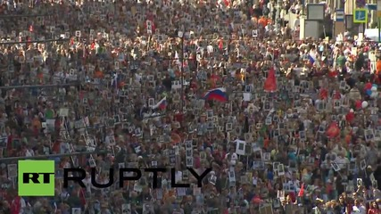 Russia: Thousands take part in Immortal Regiment march through streets of Moscow