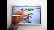 Apple Tablet Pc Modbook Hand Drawing