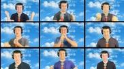 Лудак пее акапелно песента The Simpsons