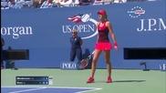 Тенисистка с футболни умения на Us Open 2015
