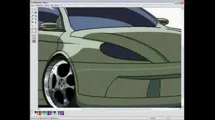 Как Да Си Нарисуваме Кола В Mspaint