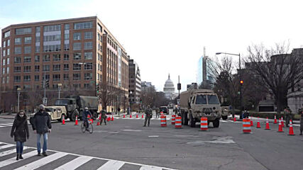 USA: National Guard checkpoints set up in Washington DC ahead of inauguration