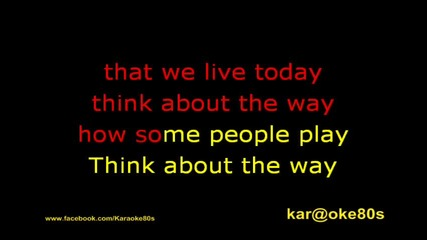 Ice Mc Karaoke Think About The Way -instrumental